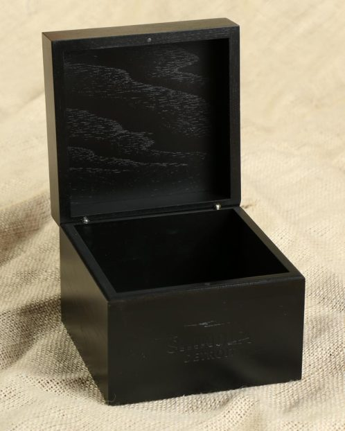 Black Shinola Watch Container with attached lid