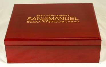 San Manuel Casino 30th Anniversary Cherry Glossy Finish