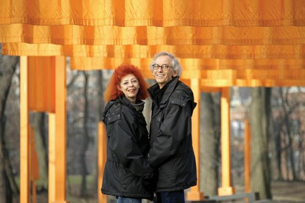 Christo & Jeanne-Claude bij The Gates in New York, 2005