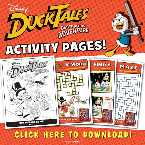 Download Disney DuckTales Destination Adventure activity pages