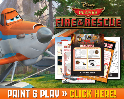Planes: Fire and Rescue Download Print & Play Activities