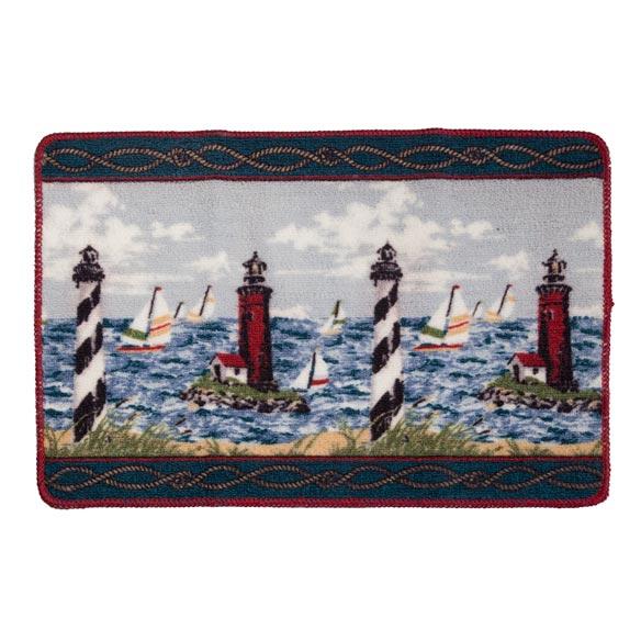 Lighthouse Bath Mat Nautical Bath Rugs Walter Drake