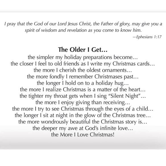 The More I Love Christmas Religious Christmas Card Set Of