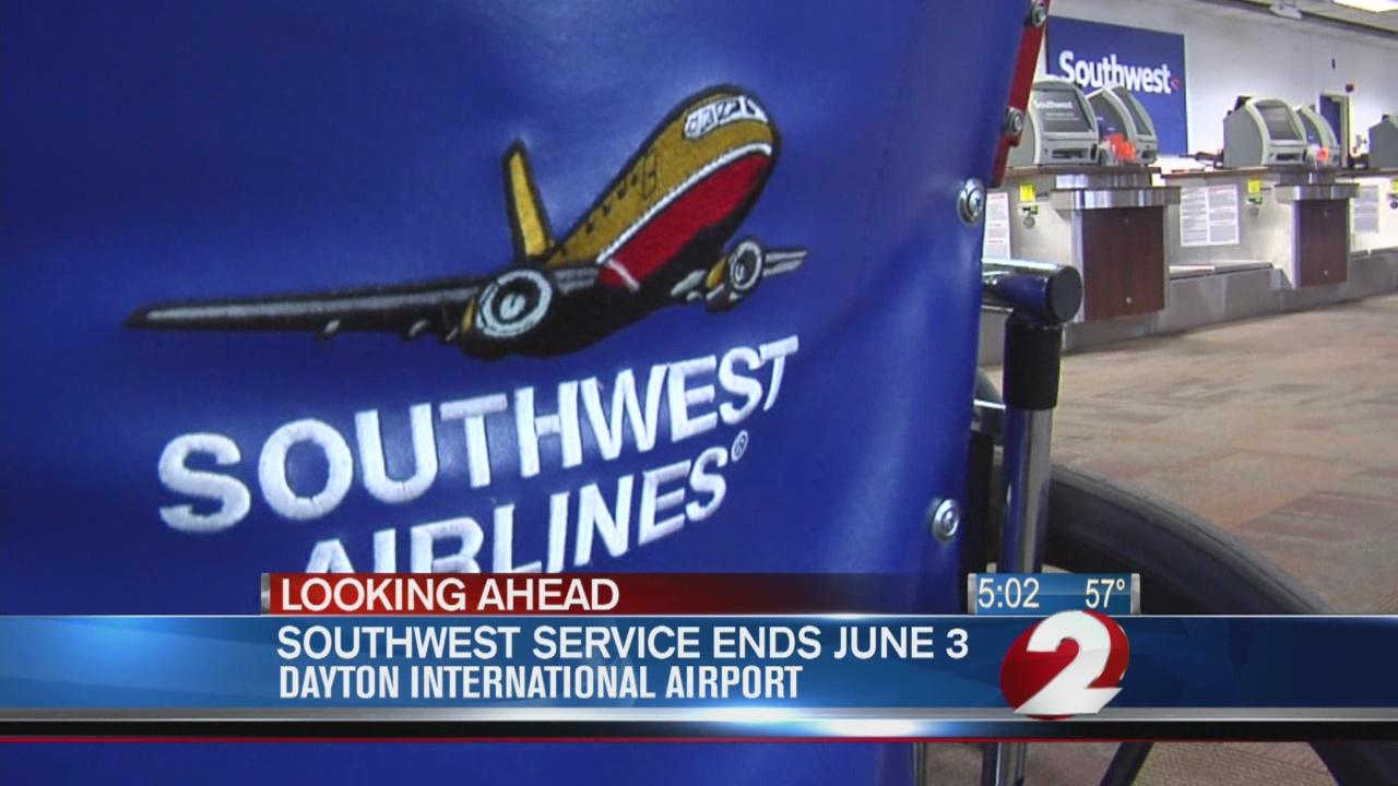 Southwest flying away from Dayton