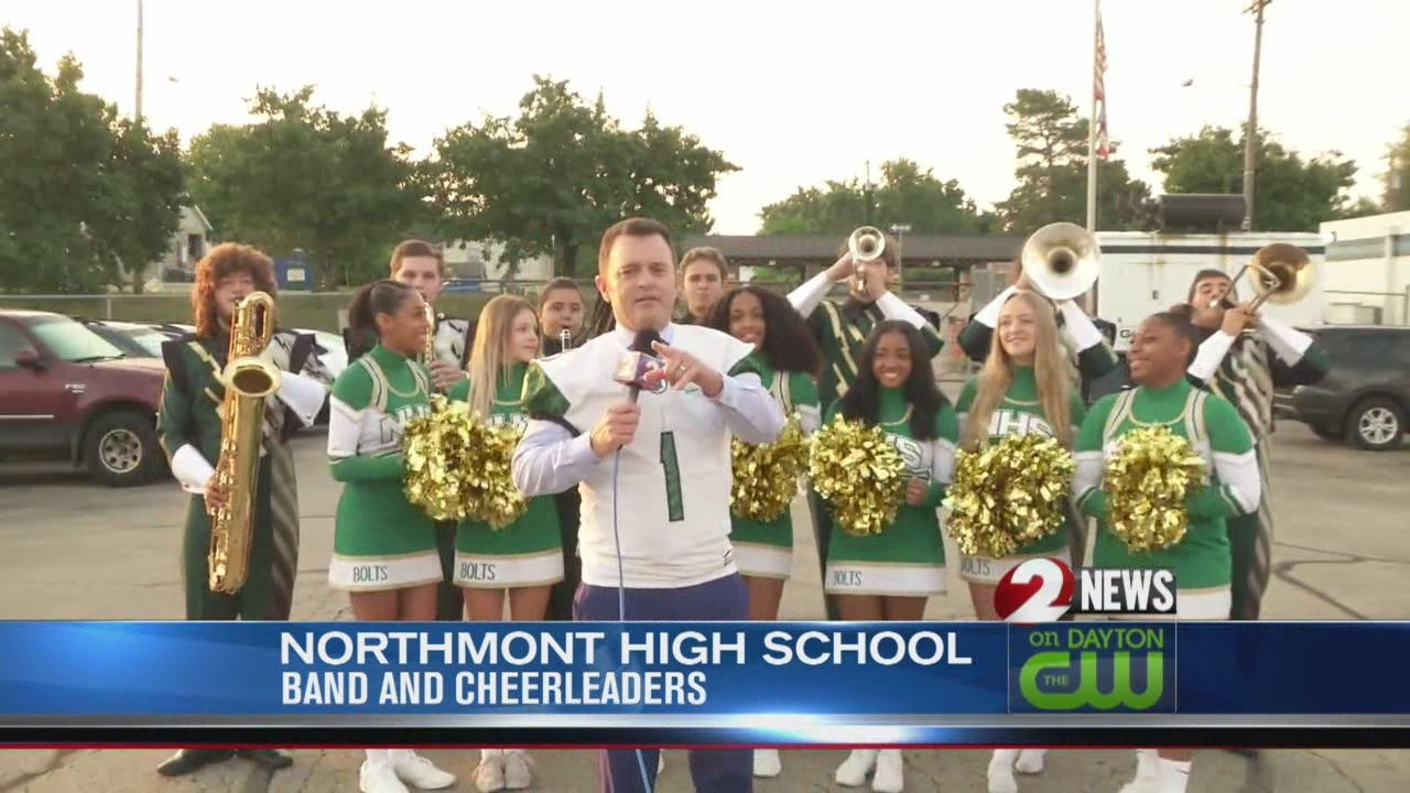 Jamie and John place friendly wager on Fairmont at Northmont game