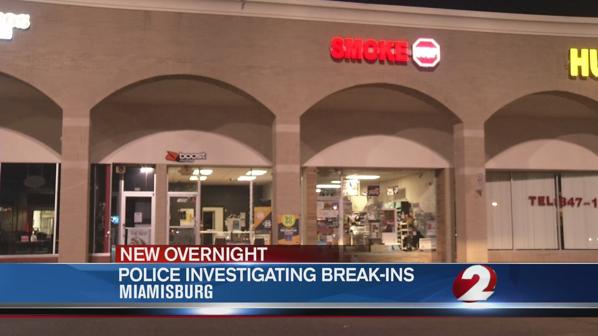 Two Miamisburg shops broken into overnight