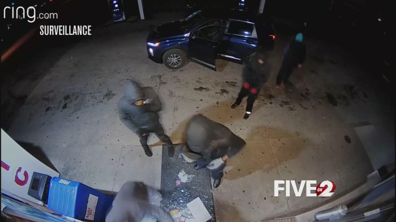Gas station break-in suspects strike again