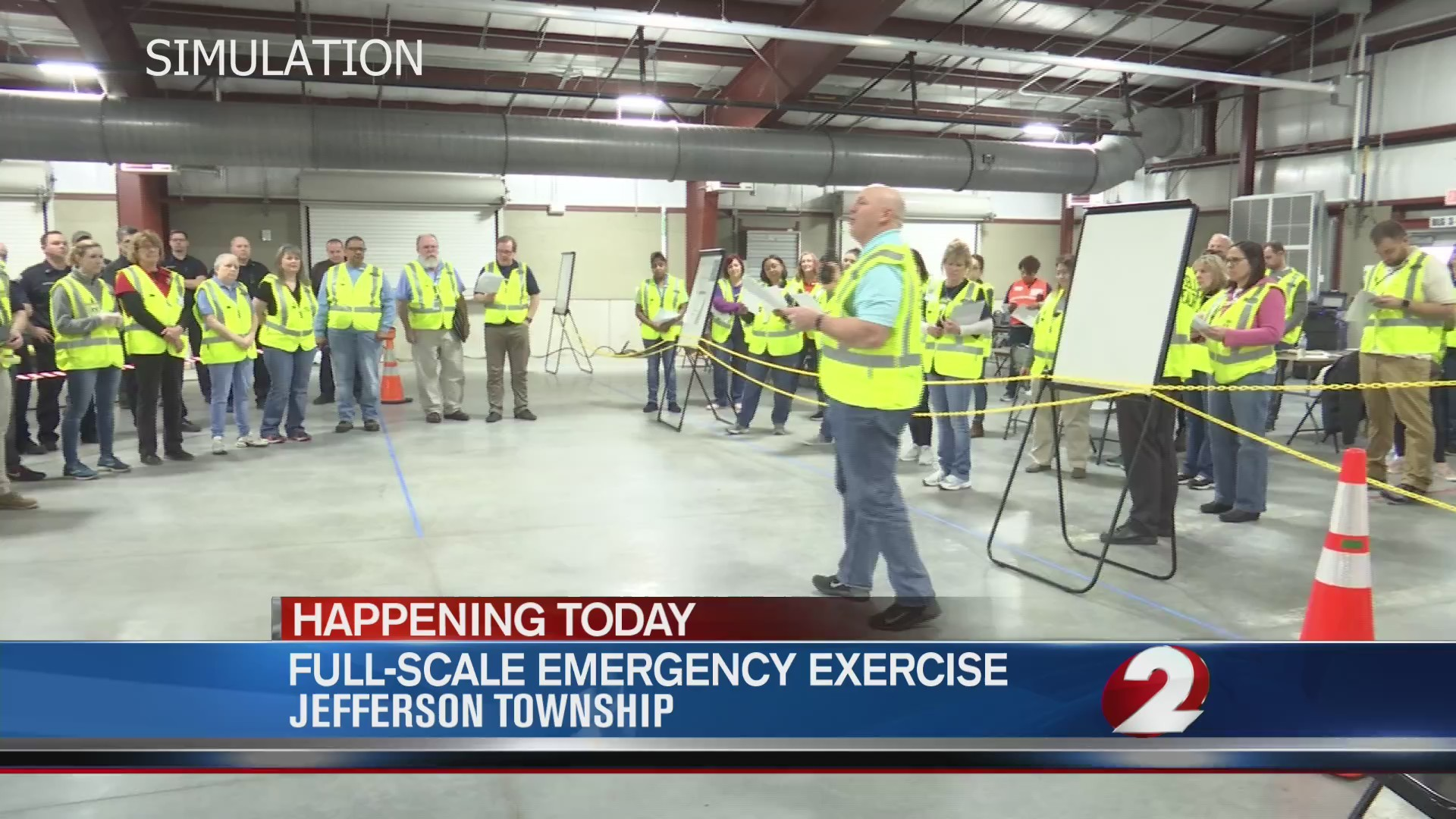 Full-scale emergency exercise in Jefferson Township