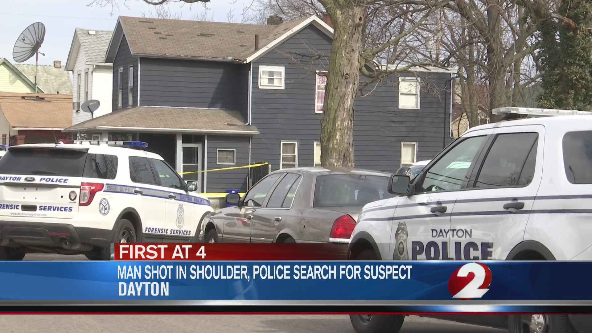 Man shot in shoulder, police search for suspect