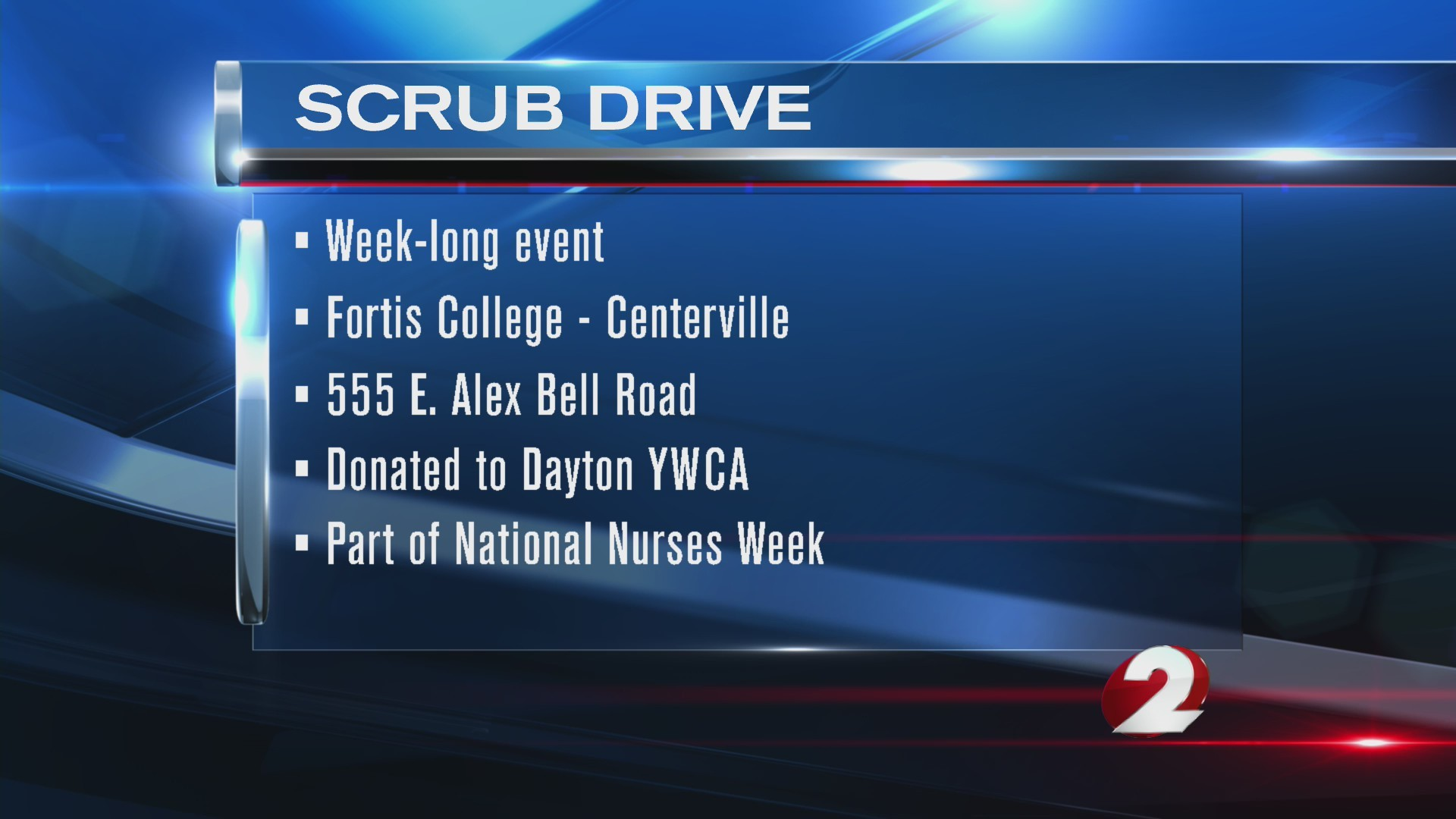 Scrub Drive at Fortis College in Centerville