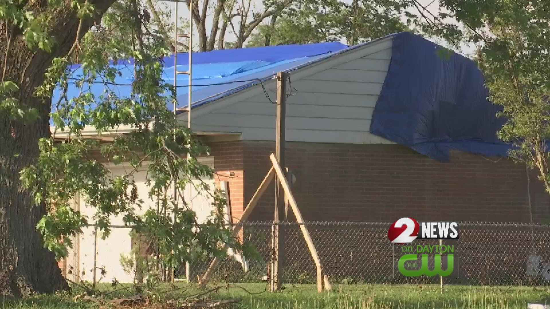 West Milton tornado damage