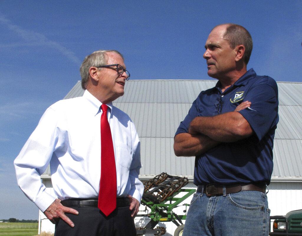 Gov. Mike DeWine talking to farmers