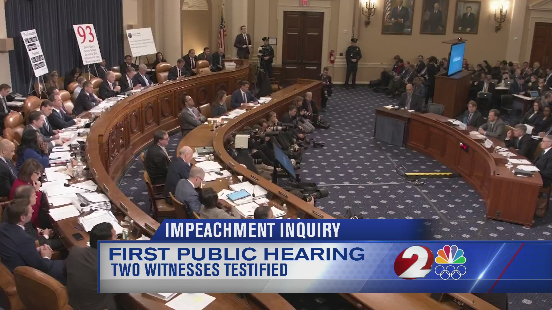 2 witnesses testify during first public impeachment hearing