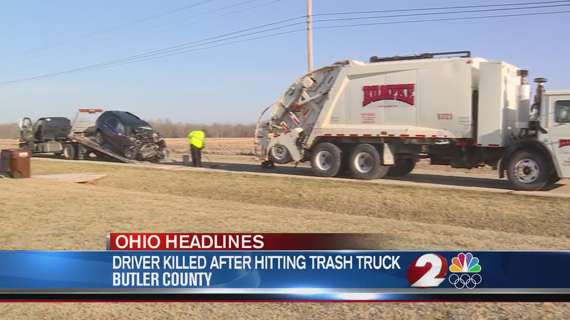 Driver killed after hitting trash truck in Butler County