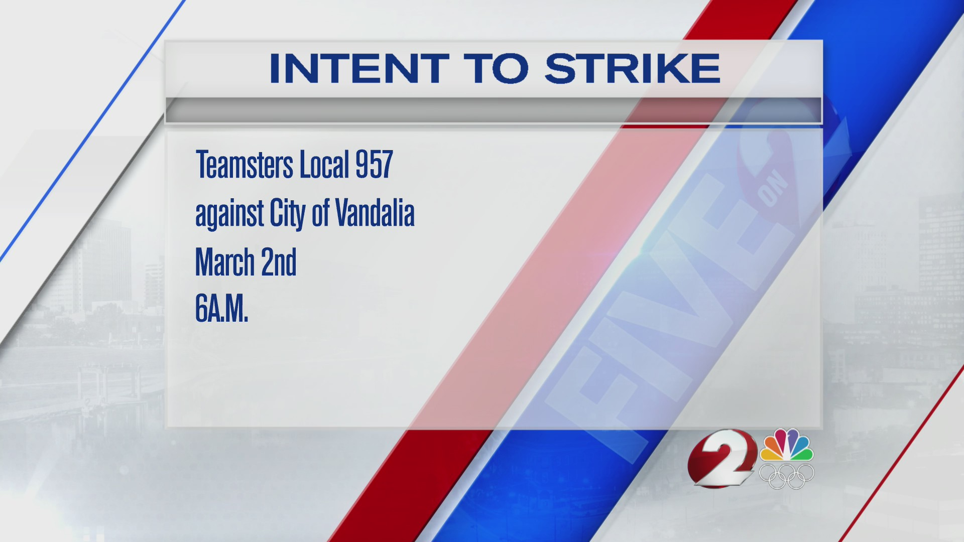 Vandalia workers file intent to strike