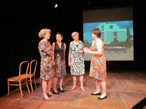 Els Ausema, Heleen Hendriks, Marieke Griffioen en Silvia Kirpestein