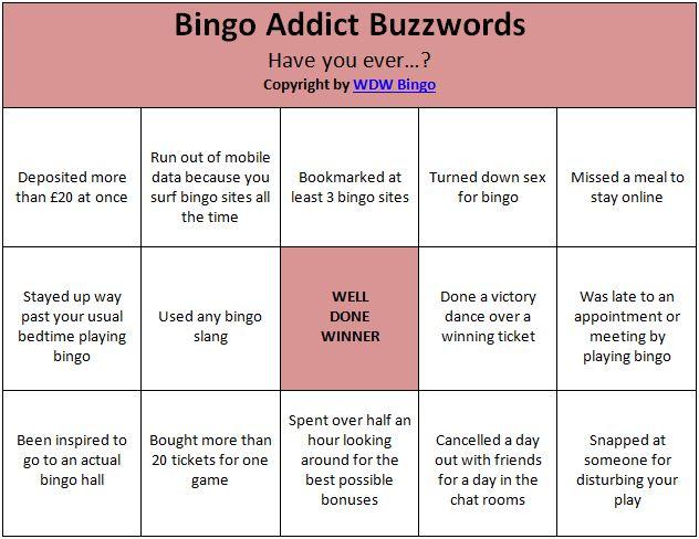 Bingo Buzzword Game