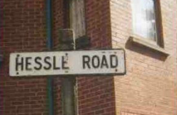 Hessle Road sign