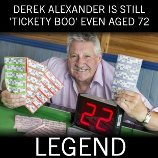 Bingo Caller Legend Derek Alexander