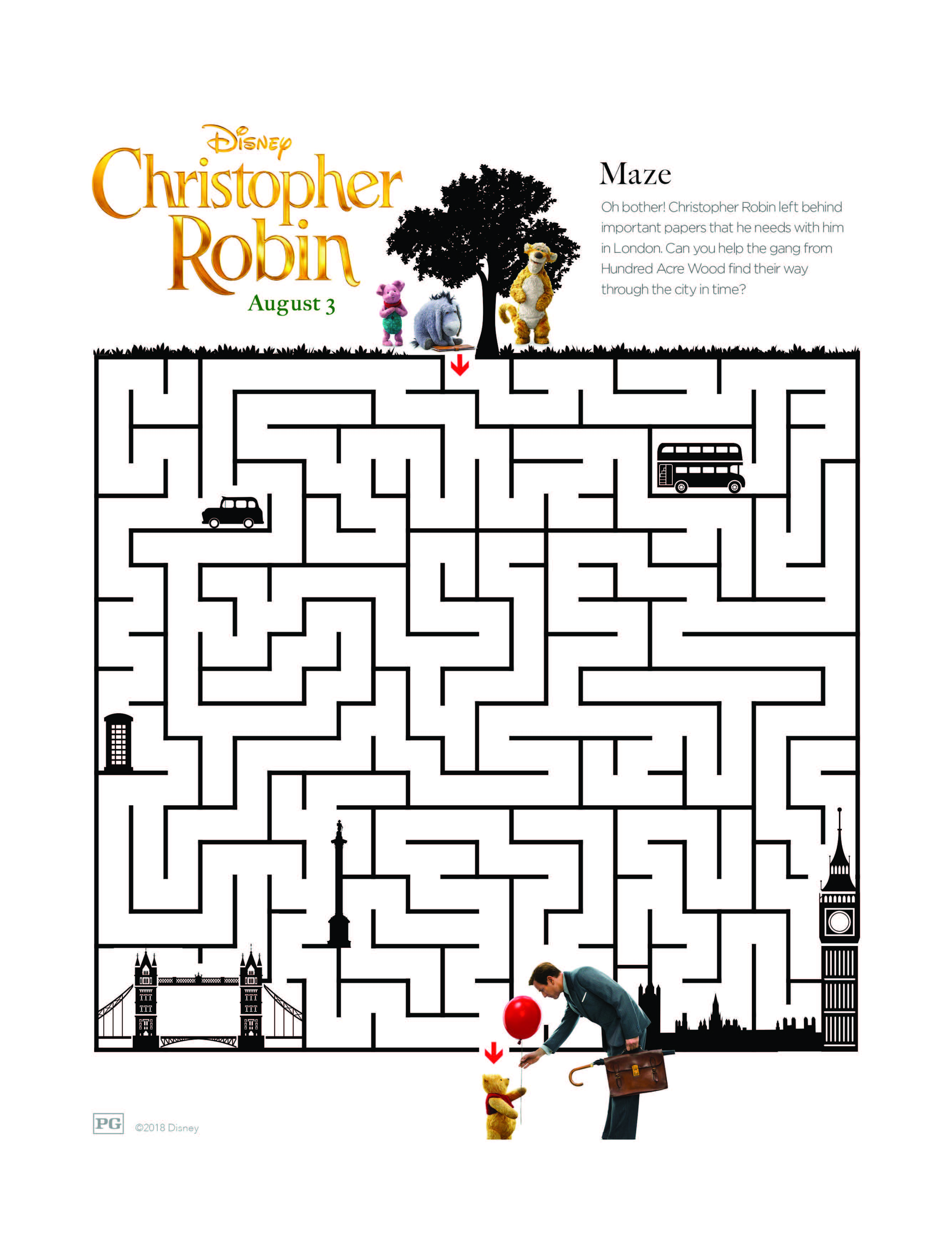 Printable Coloring And Activity Sheets From Disney S Christopher Robin