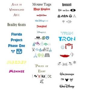 8 E FC WDW Radio Disney Themed Fonts and Symbols Colored