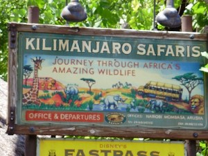 Kilimanjaro Safaris sign