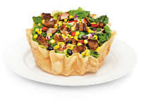 Qdoba Taco Salad (Ignore the meat in the picture, hah!)