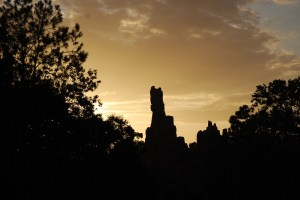 Big Thunder Mountain Railroad at Dusk