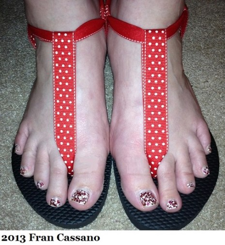 PPDC Minnie Mouse Themed Ribbon Sandals 4