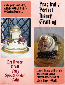 Let Disney Craft You a Special Order Cake