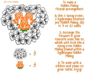 Hidden Mickey Floral Arrangement 2