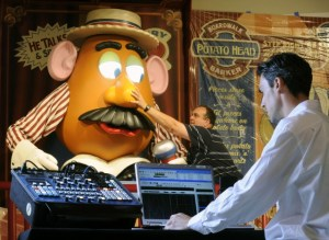 Programming Mr. Potato Head for Toy Story Mania at Disney's Hollywood Studios