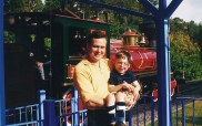 First trip to WDW Oct 2003 at train with Dad