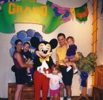 First trip to WDW family with Mickey!