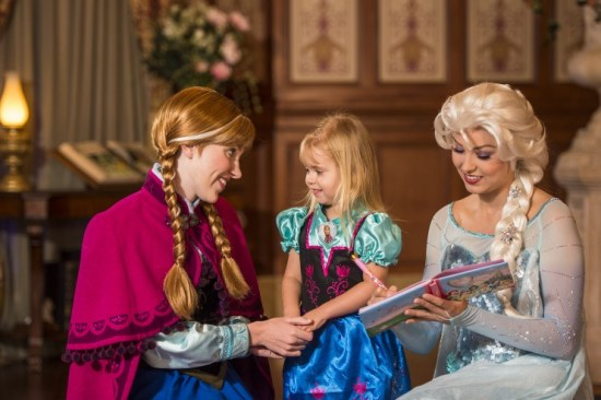 anna and elsa Walt Disney World meet and greet