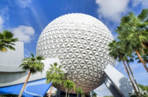 Spaceship Earth exterior copyright Disney