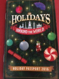 Epcot Holidays Around the World Passport