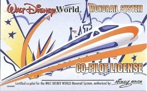 Walt Disney World Monorail Co-Pilot License