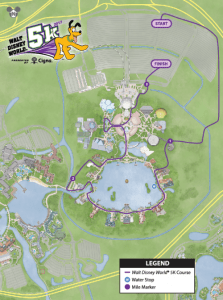 5k course map Disney