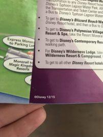 Finding the Date on Walt Disney World Park Maps