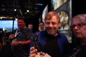 Mark Hamil visits Star Wars: Galaxy's Edge, A Galaxy of Stories pavilion at D23 Expo