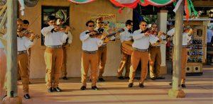 Mariachi Cobre in the Mexico pavilion in Epcot's World Showcase