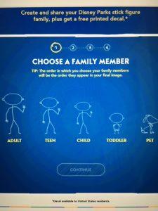 Disney Parks stick figure family