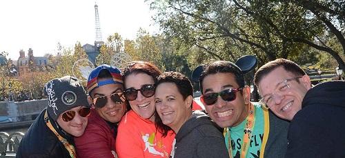 Alys friends supporting her during Marathon Weekend