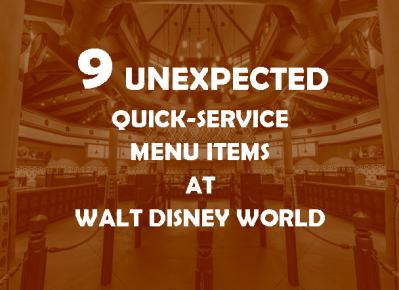 Quick-Service at Walt Disney World - background image copyright Disney