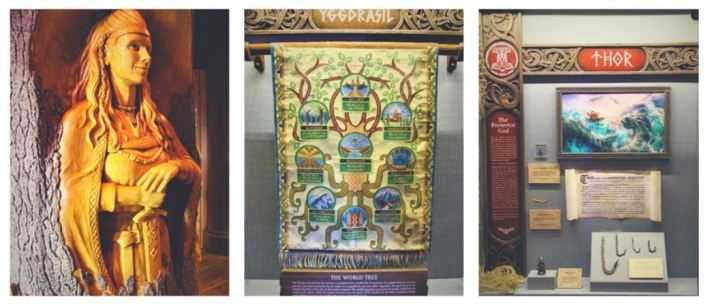 Gods of the Vikings exhibit interior