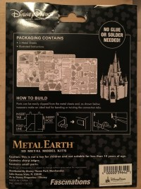 Disney Parks Metal Earth model packaging