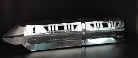 Finished Monorail Metal Earth model