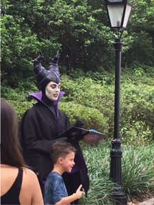 Maleficent face character in Epcot