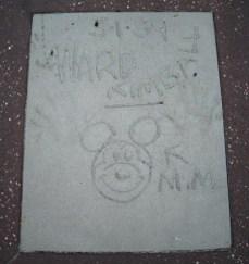 Ward Kimball Magic of Disney Animation hand prints
